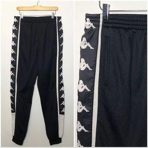 Kappa Black Track Jogger Pants Men's XL